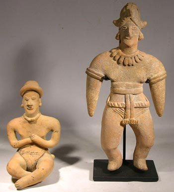Colima Seated and Standing Figures