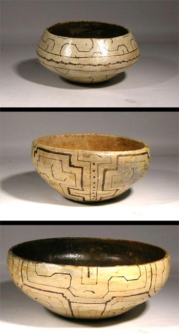 Three Old Shipibo Bowls