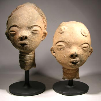 African Akan Ancestral Heads Custom Display Stands - front