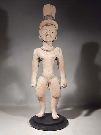 Ancient Mexican Huastec Standing Figure Custom Display Stand (front).