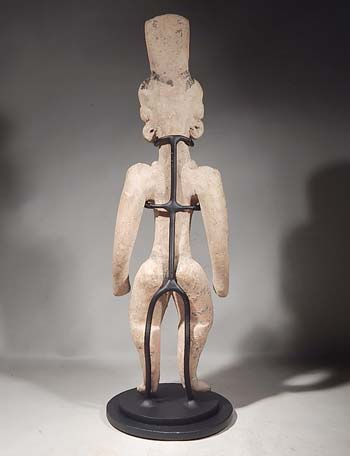 Ancient Mexican Huastec Standing Figure Custom Display Stand (back).