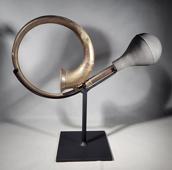 Antique Brass Car Horn Custom Display Stand.