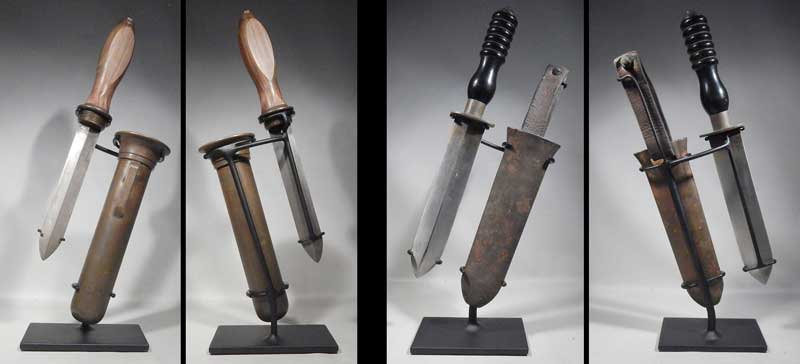 Antique Eurpoean Scuba Diver Knife Knives Custom Display Stands