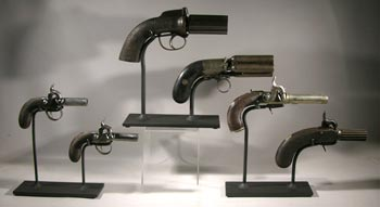Antique Pistols Custom Display Stands - Front