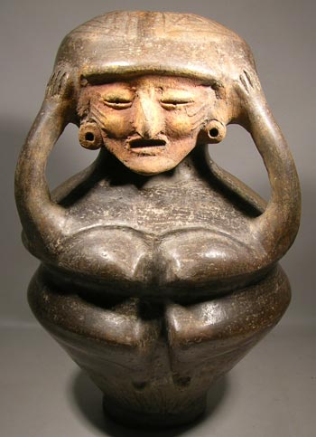Bahia Blackware Figural Vessel