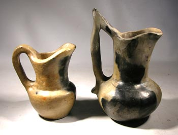 Catawba Indian Pottery Pitchers