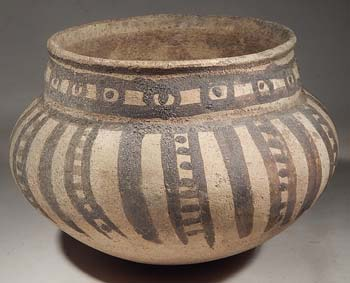 Pre-Columbian Peru Chancay Painted Bowl Vessel