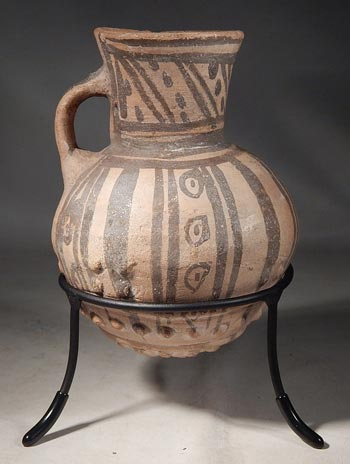 Ancient Peruvian Chancay Pitcher Vessel