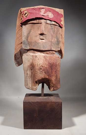 Pre-Columbian Peru Chancay Wood Carved Figure