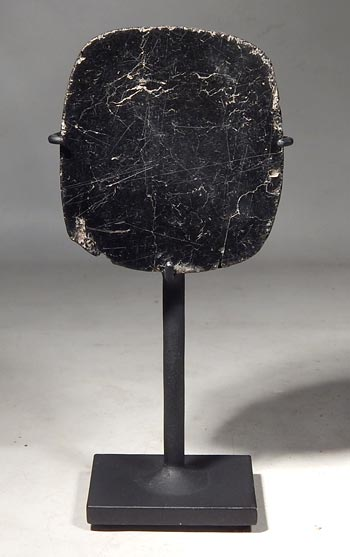 Ancient Peruvian Chavin Anthracite Mirror