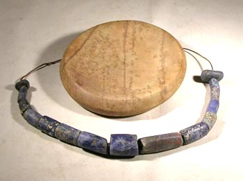 Chavin Stone Dish and Solalite Beads