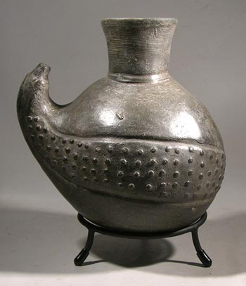 Chimu Blackware Fruit Gourd Vessel