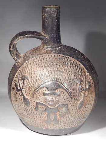 Pre-Columbian Preu Chimu Lambayeque Bottle Canteen Vessel