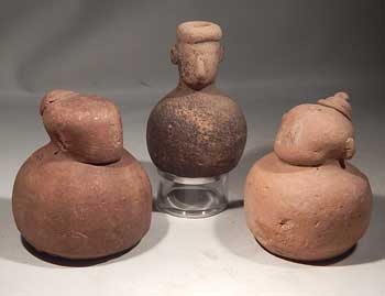 Chinese Neolithic Terracotta Pottery Earth Sprit Voltive Figures Vessel