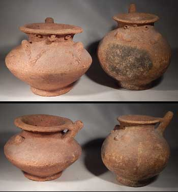 Pre-Columbian Chirique Pottery Pouring Vessels