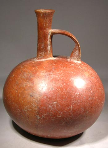 Chorrera Redware Whistle Vessel
