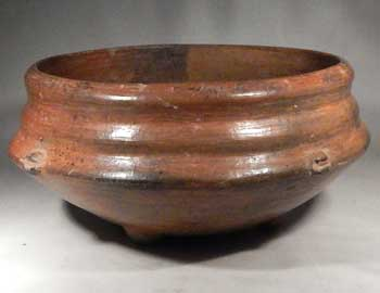 Pre-Columbian Chupicuaro Ribbed Tripod Bowl Vessel West Mexico