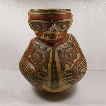 Cocle Figural Vessel - After