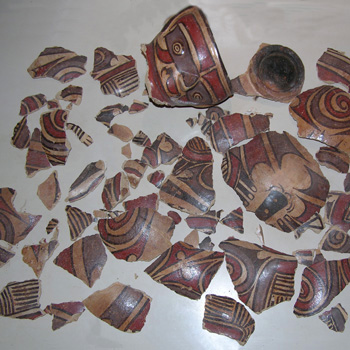 Cocle Figural Vessel - Before