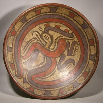 Cocle Panama Mythical Bird Bowl
