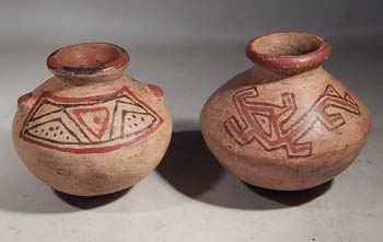 Ancient Panama Grand Cocle Polychrome Seed Jars Ollas