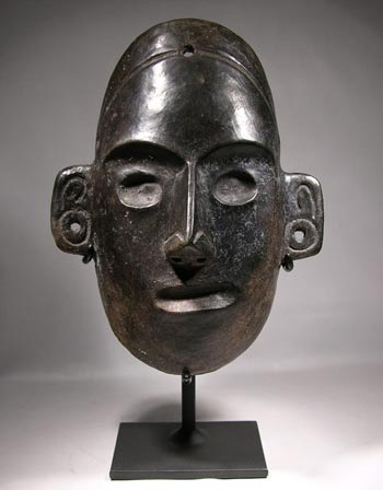 Colima Blackware Mask Custom Display Stand