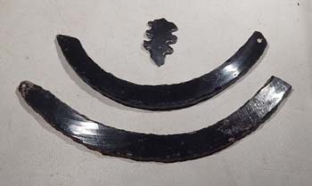 West Mexcio Colima Obsidain Pertoral Necklace
