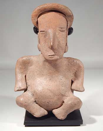 Pre-Columbian Colima West Mexico Seated Figure