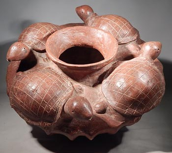 Colima Turtles Olla Vessel - After