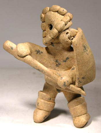 Colima Warrior Whistle Figure