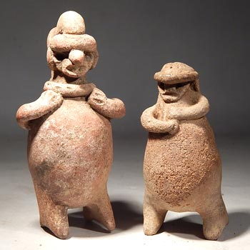 Ancient Costa Rican Rattle Figures