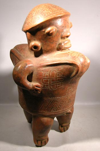 Costa Rican Guinea Incised Redware Figure