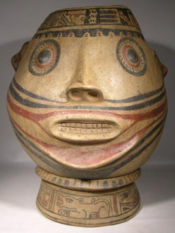 Costa Rican Portrait Head Vessel