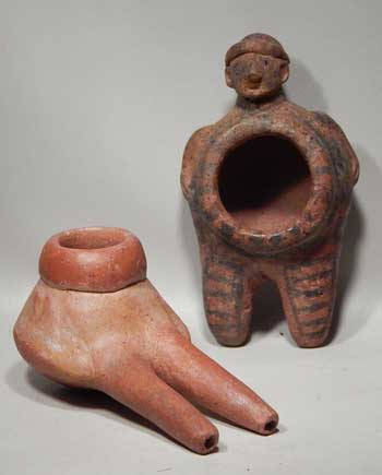 Ancient Pre-Columbian Costa Rican Nasal Inhaler Snuff Tubes