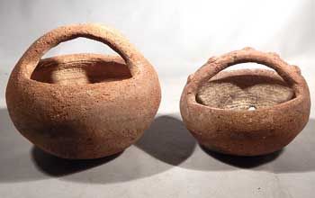 Pre-Columbian Costa Rican Pottery Basket Vessels