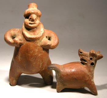 Costa Rican Rattle Figure and Dog