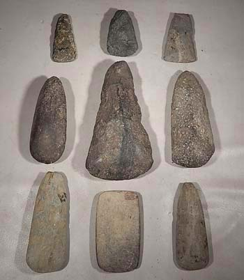 Costa Rican Stone Celts Chisels Axes Scrapers Tools