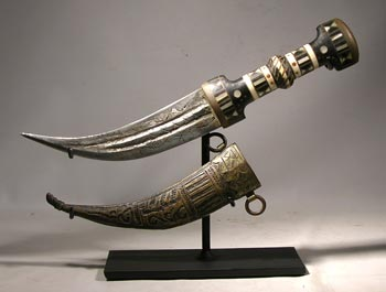 Sudanese Dagger and Sheath Custom Display Stand