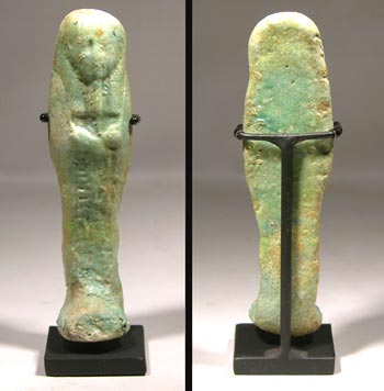 Blue Faience Egyptian Ushabti Figure