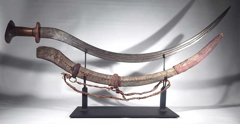 Ethiopian Shotel Sword Custom Display Stand.