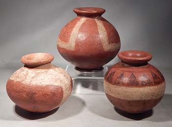 Ancient Panama Grand Cocle Seed Jars Ollas