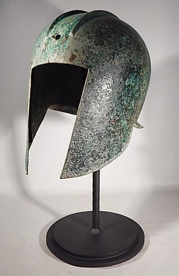 Greek Illyrian Bronze Helmet Custom Display Stand