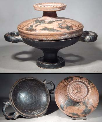 Greek Pottery Apulian Lakanis