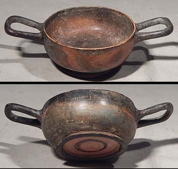 Greek Pottery Apulian Skyphos