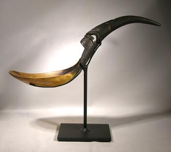 Antique Haida Spoon Custom Display Stand- Back