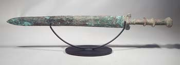 Ancient Han Dynasty Bronze Sword Custom Display Stand.
