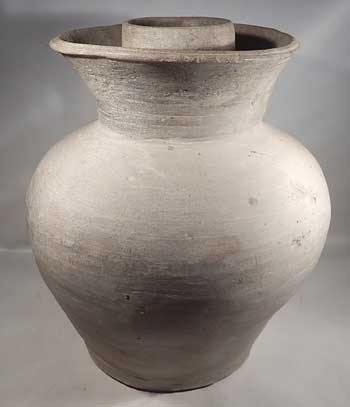 Han Dynasty Terracotta Pottery Storage Vessel