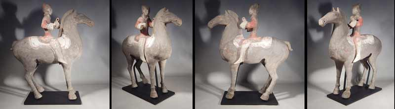 Ancient Han Dynasty Horse and Rider Custom Display Stand.