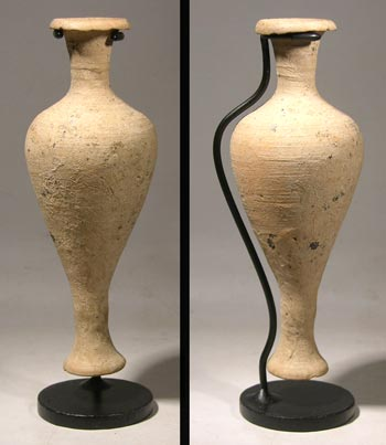 Hellenistic Pottery Spindle Vase