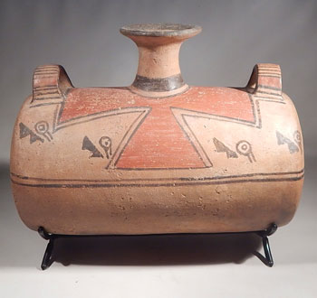 Pre-Columbian Peru Ica Ika Barrel Drum Aryballo Vessel